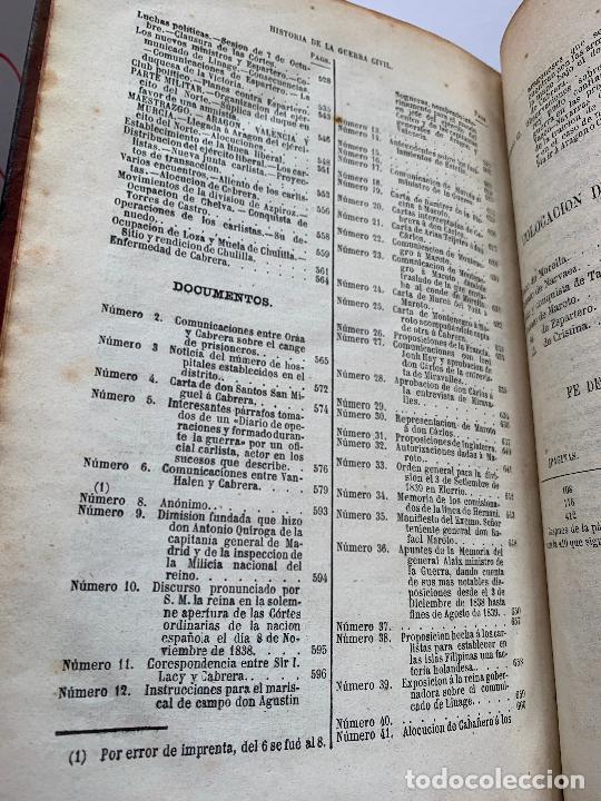 Libros de segunda mano: Historia de la Guerra Civil, liberal y carlista. 2a edicion. 1869. Indice fotografiado - Foto 6 - 253637530