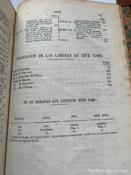 Libros de segunda mano: Historia de la Guerra Civil, liberal y carlista. 2a edicion. 1869. Indice fotografiado - Foto 7 - 253637530