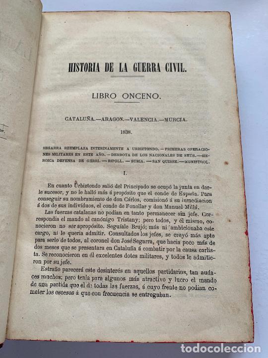 Libros de segunda mano: Historia de la Guerra Civil, liberal y carlista. 2a edicion. 1869. Indice fotografiado - Foto 9 - 253637530