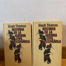 Libros de segunda mano: HISTORIA DE LA GUERRA CIVIL ESPAÑOLA HUGH THOMAS NÚMEROS 1 Y 2. Lote 254538985