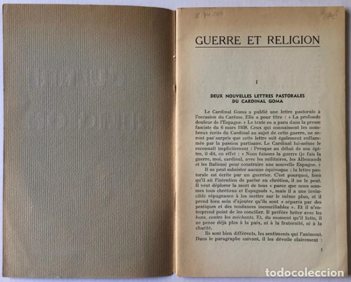Libros de segunda mano: GUERRE ET RELIGION. - Foto 2 - 260665905