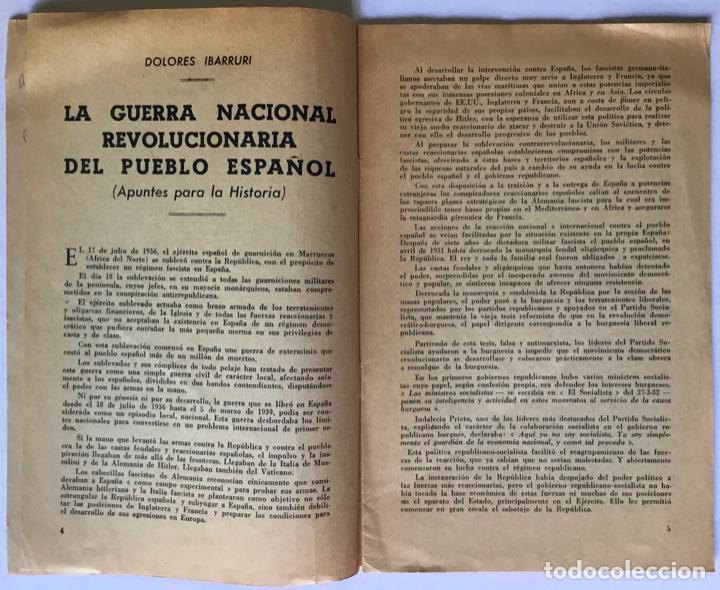 Libros de segunda mano: LA GUERRA NACIONAL REVOLUCIONARIA DEL PUEBLO ESPAÑOL (Apuntes para la historia). - IBARRURI, Dolores - Foto 2 - 260667080