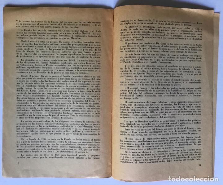 Libros de segunda mano: LA GUERRA NACIONAL REVOLUCIONARIA DEL PUEBLO ESPAÑOL (Apuntes para la historia). - IBARRURI, Dolores - Foto 3 - 260667080
