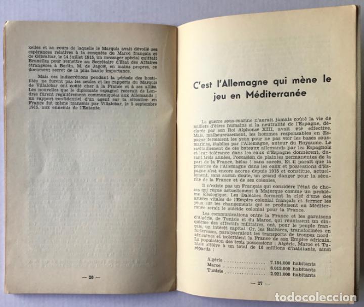 Libros de segunda mano: DERRIERE LES COULISSES DE LA GUERRE DESPAGNE. Daprès les documents inédits des archives secrétes.. - Foto 5 - 260668535
