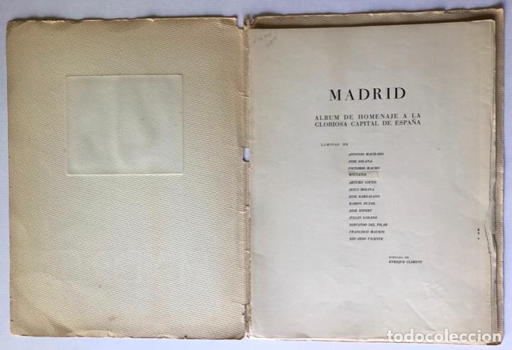 Libros de segunda mano: MADRID. ALBUM DE HOMENAJE A LA GLORIOSA CAPITAL DE ESPAÑA. - Foto 2 - 260669515