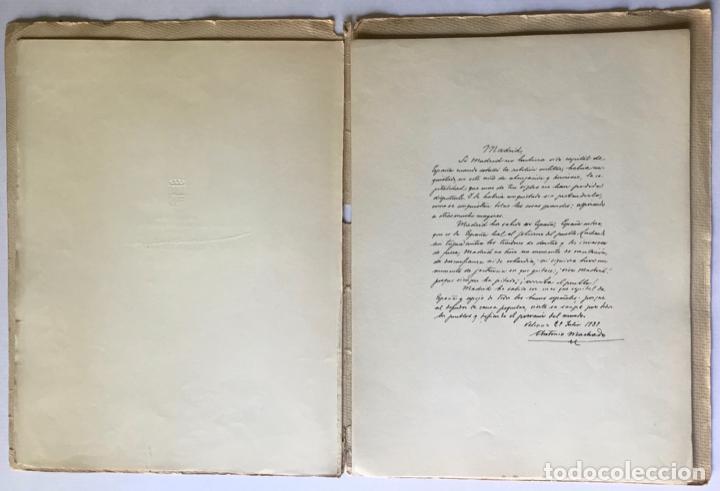 Libros de segunda mano: MADRID. ALBUM DE HOMENAJE A LA GLORIOSA CAPITAL DE ESPAÑA. - Foto 3 - 260669515