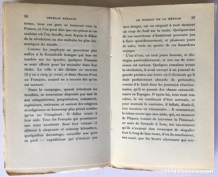 Libros de segunda mano: CRUELLE ESPAGNE. - THARAUD, Jérôme y Jean. - Foto 4 - 260817860