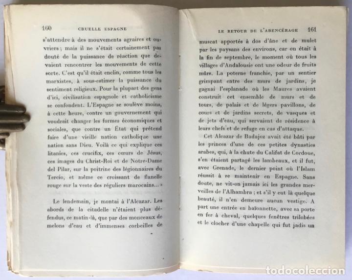 Libros de segunda mano: CRUELLE ESPAGNE. - THARAUD, Jérôme y Jean. - Foto 5 - 260817860