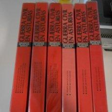 Libros de segunda mano: GUERRA CIVIL EN ASTURIAS. PERIODICOS DE LOS DOS BANDOS. OBRA EN 6 TOMOS DE AYALGA EDICIONES. 1980-19. Lote 261623700