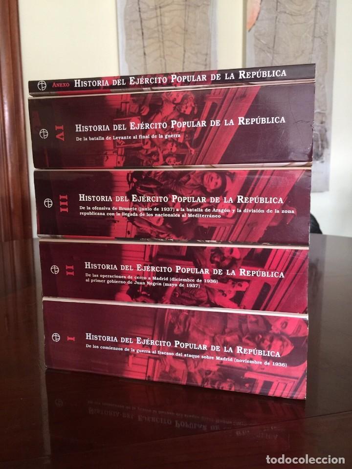 HISTORIA DEL EJÉRCITO POPULAR DE LA REPUBLICA COMPLETA EN 4 TOMOS Y ANEXO - RAMÓN SALAS LARRAZÁBAL (Libros de Segunda Mano - Historia - Guerra Civil Española)