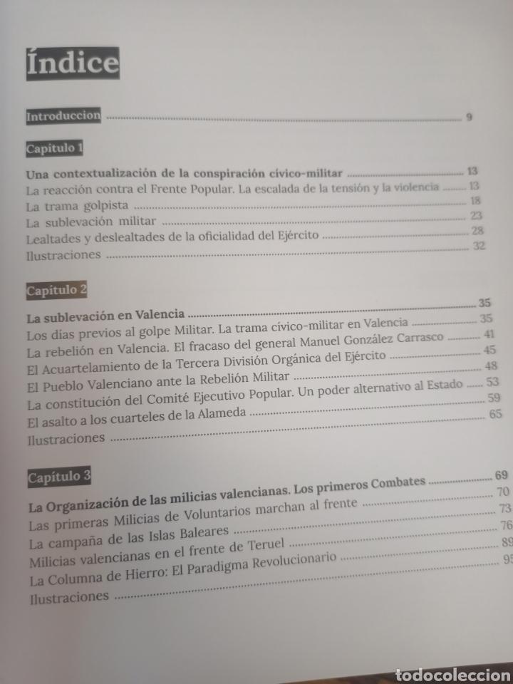 Libros de segunda mano: LAS MILICIAS VALENCIANAS EN LA GUERRA CIVIL 1936-1937. ASENSIO GÓMEZ, M. DIPUTACIÓN DE VALENCIA,2021 - Foto 2 - 264334060