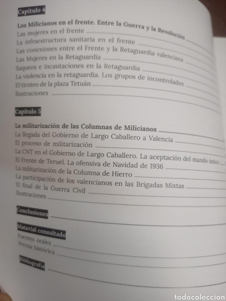 Libros de segunda mano: LAS MILICIAS VALENCIANAS EN LA GUERRA CIVIL 1936-1937. ASENSIO GÓMEZ, M. DIPUTACIÓN DE VALENCIA,2021 - Foto 3 - 264334060