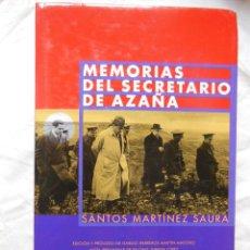 Libros de segunda mano: MEMORIAS DEL SECRETARIO DE AZAÑA. 1999 SANTOS MARTINEZ SAURA. Lote 268143824