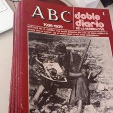 Libros de segunda mano: ABC. DOBLE DIARIO DE LA GUERRA CIVIL. 1936-1939. COMPLETO. 80 FASCÍCULOS. REF. UR MES. Lote 269108238