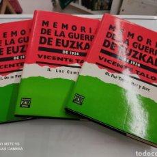 Livros em segunda mão: VICENTE TALÓN ORTIZ - MEMORIA DE LA GUERRA DE EUZKADI DE 1936. 3 TOMOS OBRA COMPLETA PAIS VASCO. Lote 269274143