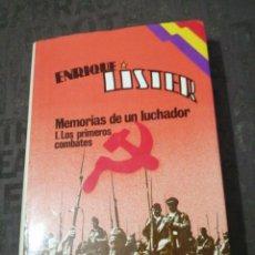 Livros em segunda mão: ENRIQUE LÍSTER , MEMORIAS DE UN LUCHADOR I: LOS PRIMEROS COMBATES, TAPA DURA SOBRECUBIERTAS. Lote 269484638
