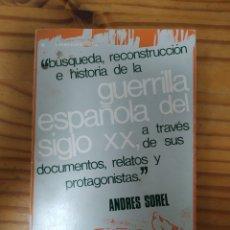 Libros de segunda mano: GUERRILLA ESPAÑOLA DEL SIGLO XX.. Lote 269953113