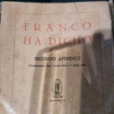 Libros de segunda mano: FRANCO HA DICHO. Lote 270952103
