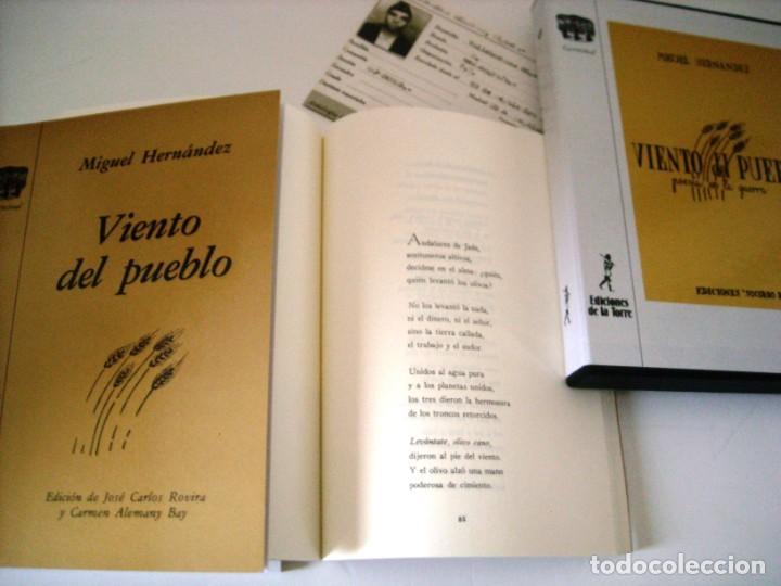 Libros de segunda mano: VIENTO DEL PUEBLO - MIGUEL HERNANDEZ - Foto 3 - 271447488