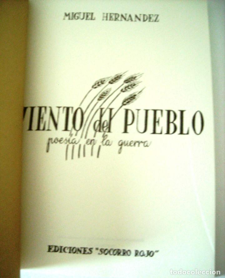 Libros de segunda mano: VIENTO DEL PUEBLO - MIGUEL HERNANDEZ - Foto 4 - 271447488
