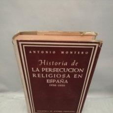 Livros em segunda mão: HISTORIA DE LA PERSECUCIÓN RELIGIOSA EN ESPAÑA 1936-1939. Lote 272156298