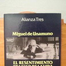 Libros de segunda mano: EL RESENTIMIENTO TRAGICO DE LA VIDA ~ MIGUEL DE UNAMUNO ~ NOTAS SOBRE LA REVOLUCION Y GUERRA CIVIL. Lote 273926073