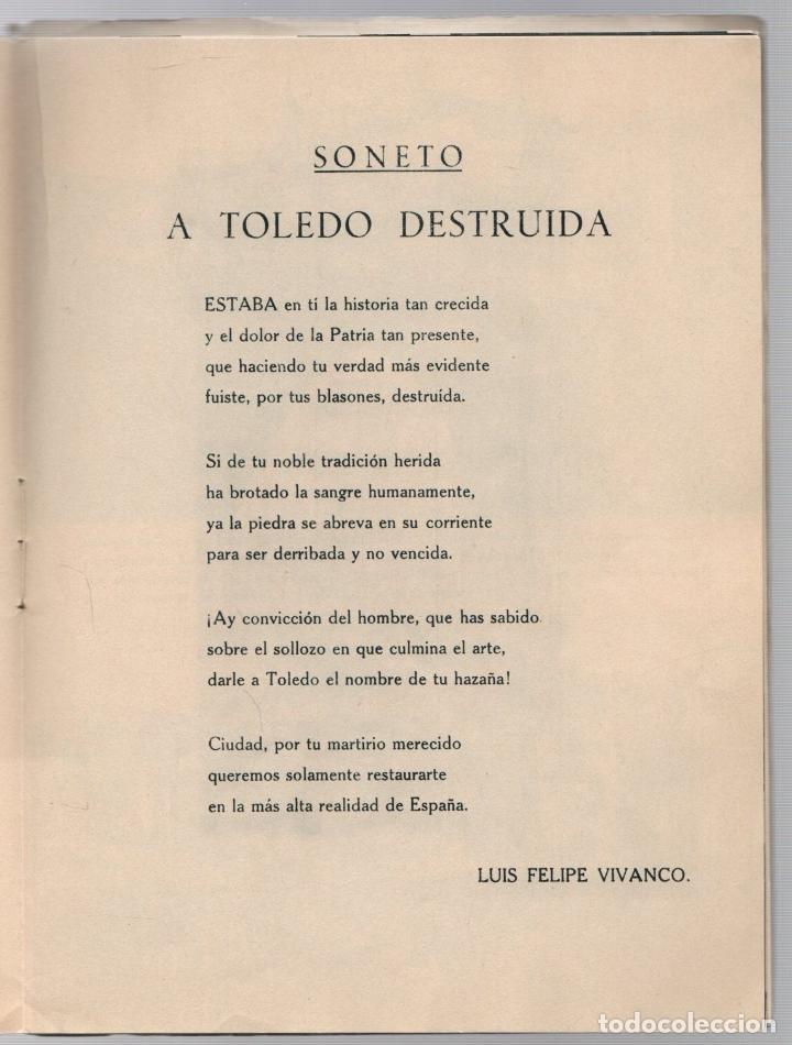 Libros de segunda mano: EL ALCAZAR. GUERRA CIVIL ESPAÑOLA. DESASTRES EN EL ALCAZAR DE TOLEDO. EDITORA NACIONAL. AÑO 1939 - Foto 2 - 277003008