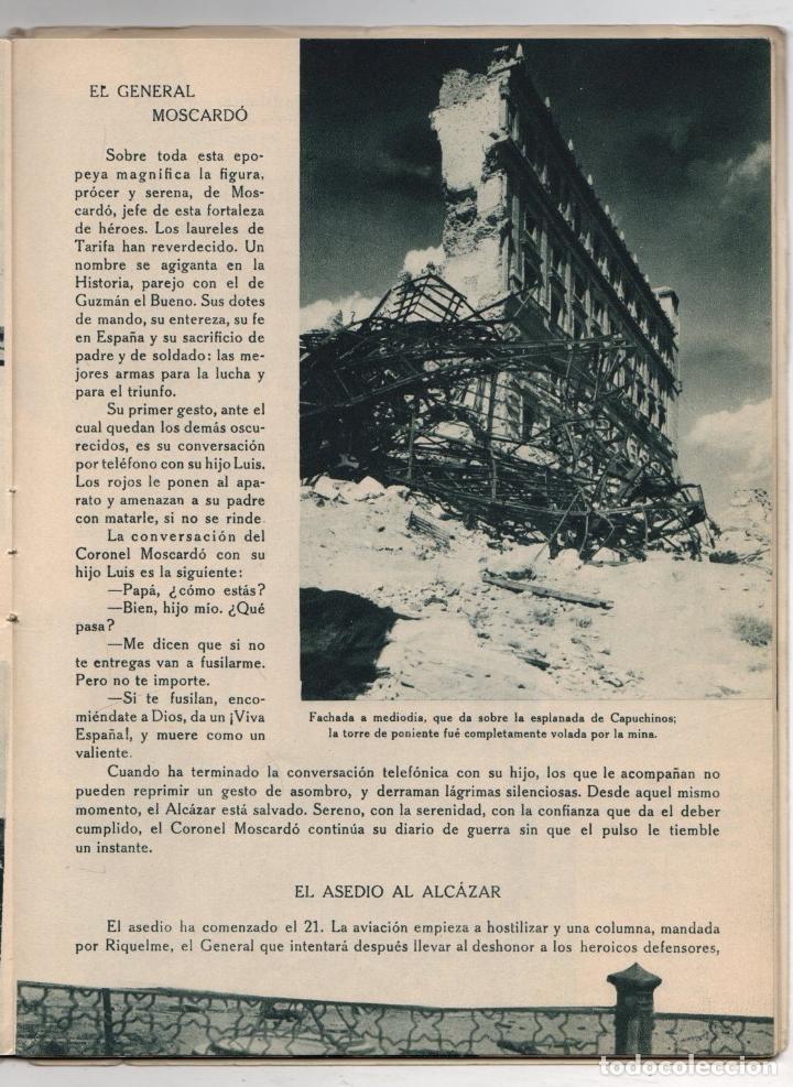 Libros de segunda mano: EL ALCAZAR. GUERRA CIVIL ESPAÑOLA. DESASTRES EN EL ALCAZAR DE TOLEDO. EDITORA NACIONAL. AÑO 1939 - Foto 3 - 277003008