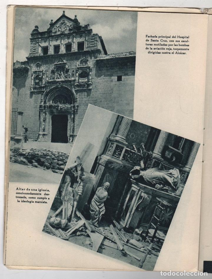 Libros de segunda mano: EL ALCAZAR. GUERRA CIVIL ESPAÑOLA. DESASTRES EN EL ALCAZAR DE TOLEDO. EDITORA NACIONAL. AÑO 1939 - Foto 5 - 277003008