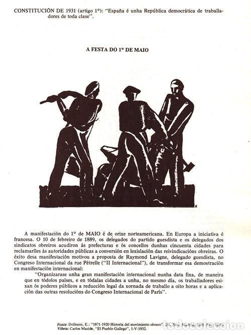 Libros de segunda mano: A EPOCA DA II REPUBLICA VISTA POR CARLOS MASIDE. MARIA ESTHER RODRIGUEZ LOSADA. GALICIA. - Foto 2 - 277196888
