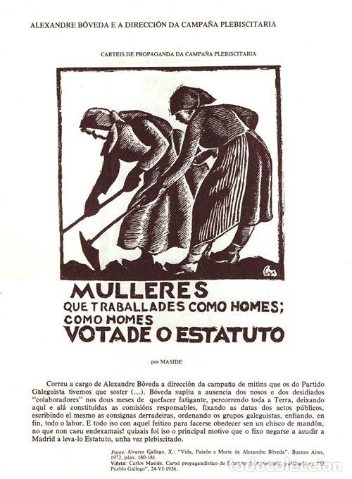 Libros de segunda mano: A EPOCA DA II REPUBLICA VISTA POR CARLOS MASIDE. MARIA ESTHER RODRIGUEZ LOSADA. GALICIA. - Foto 4 - 277196888