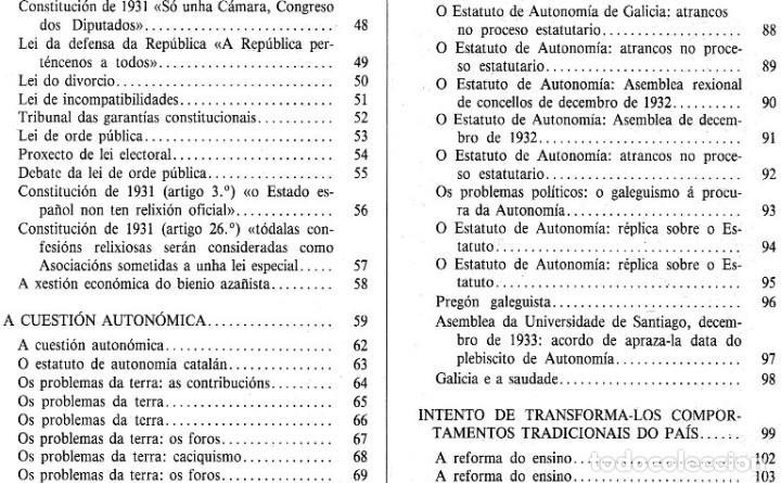 Libros de segunda mano: A EPOCA DA II REPUBLICA VISTA POR CARLOS MASIDE. MARIA ESTHER RODRIGUEZ LOSADA. GALICIA. - Foto 7 - 277196888