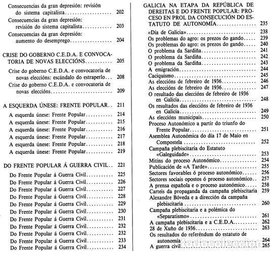 Libros de segunda mano: A EPOCA DA II REPUBLICA VISTA POR CARLOS MASIDE. MARIA ESTHER RODRIGUEZ LOSADA. GALICIA. - Foto 10 - 277196888