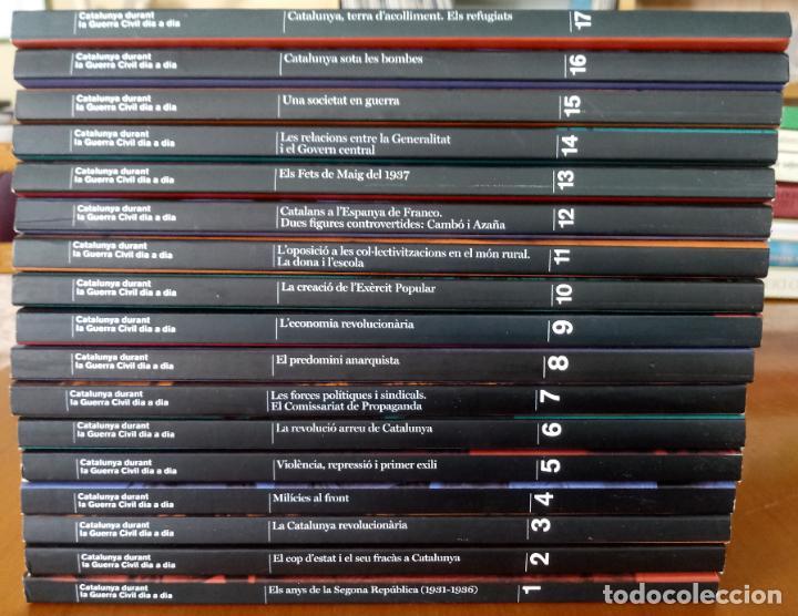 LOTE DE 17 TOMOS - CATALUNYA DURANT LA GUERRA CIVIL DIA A DIA - CATALÀ (Libros de Segunda Mano - Historia - Guerra Civil Española)