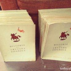 Libros de segunda mano: HISTORIA DE LA CRUZADA ESPAÑOLA (36 TOMOS) (COMPLETA) (EDICIONES ESPAÑOLAS, 1940-44). Lote 278234448