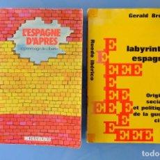 Libros de segunda mano: LE LABYRINTHE ESPAGNOL, GERALD BRENAN. RUEDO IBÉRICO. 1962 + L' ESPAGNE D' APRES, CHRISTIAN RUDEL. Lote 278282973