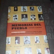 Livros em segunda mão: MEMORIAS DE UN PUEBLO - AMPARO HURTADO , GUERRA CIVIL ESPAÑOLA. Lote 278301813