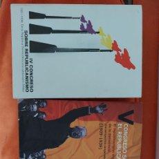 Libros de segunda mano: LIBROS CONGRESO SOBRE REPUBLICANISMO. Lote 294979793