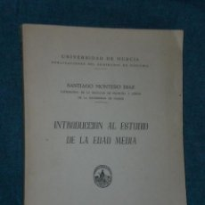 Libros de segunda mano: INTRODUCCIÓN AL ESTUDIO DE LA EDAD MEDIA.. Lote 26183669