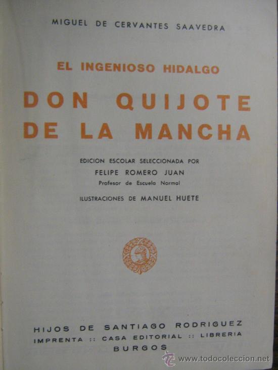 Libros de segunda mano: libro don quijote de la mancha miguel de cervantes 1965 dibujos ilustraciones de manuel huete - Foto 3 - 18207488