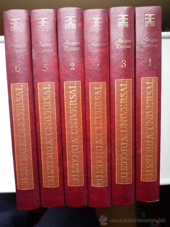 MAGNÍFICA COLECCION, JACQUES PIRRENE, HISTORIA UNIVERSAL, 6 TOMOS, 1978, MÁS DE 3.000 PAG. (Libros de Segunda Mano - Historia Antigua)