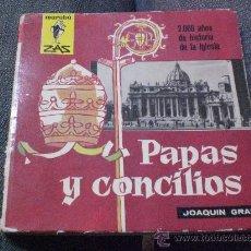 Libros de segunda mano: COL. MARABU ZAS Nº 18.- PAPAS Y CONCILIOS DE JOAQUIN GRAU 1ª EDICION 1.962.-. Lote 26455049