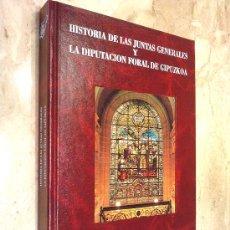 Libros de segunda mano: LIBRO DE: HISTORIA DE LAS JUNTAS GENERALES Y LA DIPUTACIÓN FORAL DE GUIPÚZCOA, NUEVO. Lote 26582676