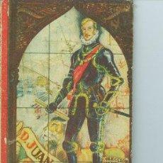 Libros de segunda mano: DON JUAN DE AUSTRIA PEQUEÑO LIBRO LIBRO 1942 EDITORIAL SANTIAGO VIVES. BARCELONA 1ª EDICCION 80 PAGI. Lote 25666715