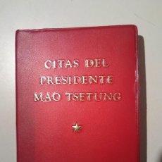 Libros de segunda mano: CITAS DEL PRESIDENTE MAO TSETUNG. Lote 26196048