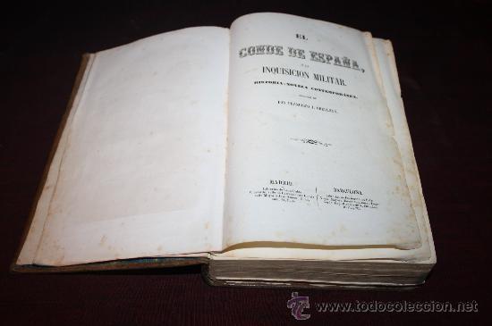 Gebrauchte Bücher: 1717- FANTÁSTICO LIBRO ' EL CONDE DE ESPAÑA', POR DON FRANCISCO J.ORELLANA, AÑO 1856 - Foto 2 - 27665898