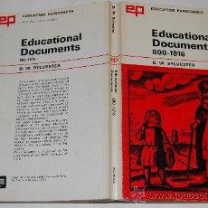Libros de segunda mano: EDUCATIONAL DOCUMENTS. 800-1816. D. W. SYLVESTER RM32287. Lote 28804950