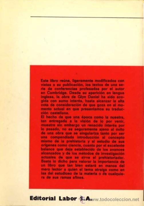 Libros de segunda mano: GLYN DANIEL - EL CONCEPTO DE PREHISTORIA - NUEVA COLECCION LABOR Nº 64 - ED. LABOR - 1977 - Foto 2 - 29893711