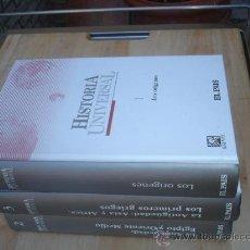 Libros de segunda mano: 3 TOMOS HISTORIA UNIVERSAL ANTIGUA. Lote 29931101