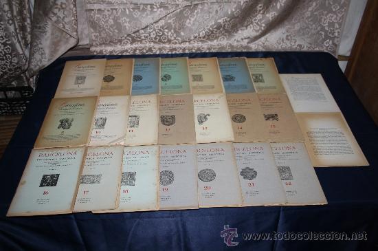 1963- 'BARCELONA - DIVULGACIÓN HISTÓRICA' 22 FASCÍCULOS ED. AYMA DIR. DURÁN Y SANPERE BARCELONA (Libros de Segunda Mano - Historia Antigua)